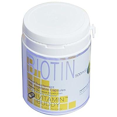 Vitamin Buddy's Biotin 500mcg - 140 Capsules - Premium Quality, Gluten-Free, Vegan-Friendly by Vitamin Buddy