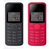 I KALL 1.44 Inch (3.65 Cm) Single Sim Feature Phone Combo - K73 (Black + Red)