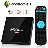 Android 8.1 TV Box [4GB RAM+32GB ROM], Superpow Android Box TV 4K, USB 3.0, BT 4.1, UHD H.265, HDMI, Smart TV Box Quad Core WiFi Media Player, Box TV Android