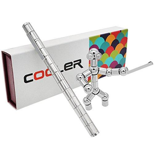 Preisvergleich Produktbild Cooler Magnetstift Wunderbaren Magnetischer Kugelschreiber Ideale Geschenk Witzig Magnetstift Stylus Stift kreative Geschenkfeder Set Silber