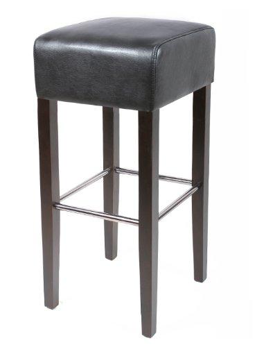 SixBros. Living Sgabello Bar Bistro in legno faggio massiccio wengè/nero - BAR-02-WS/13