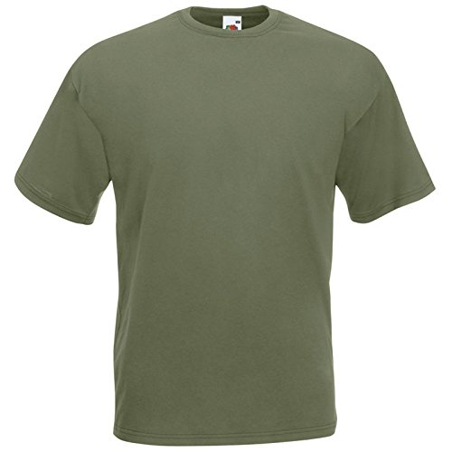 Fruit of the Loom Valueweight T-Shirt Oliv XXL