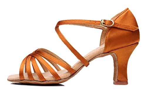 TDA , Damen Peep Toes 7cm Brown