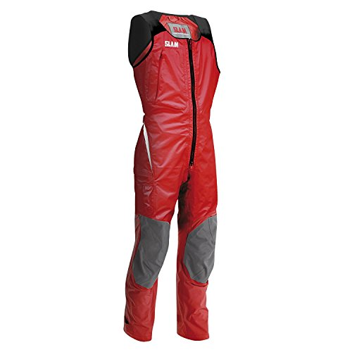 Layer Long Johns (SLAM Force 4 Long John Men's 25.000mm Waterproof Red 3-LAYER NYLON RIPSTOP Mesh stretch fabric on the shoulders Large)