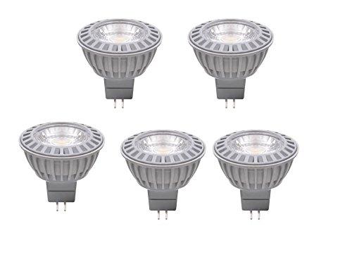 XQ-lite LED-Lampen 5er Set GU5,3, 5 W ersetzt 35 W, 345 Lumen, 38 Grad Abstrahlwinkel, warmweiß XQ13166-5