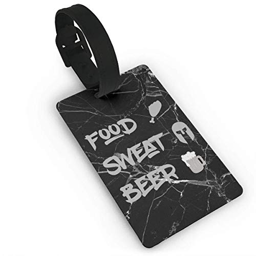 Liang4268 Kofferanhänger Cool Food Sweat Beer Luggage Tags Label Suitcase Tags Travel Bag Labels Unique Design Business Card Holder For Baggage For