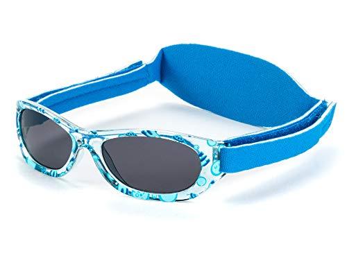 Gafas de sol bebe para niños y niñas a partir de 2 meses, CON BANDA SUAVE DE NEOPRENO AJUSTABLE, 100% protección rayos UVA y UVB, seguras, confortables y muy resistentes, ideal regalo.