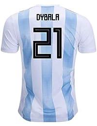 2018-19 Argentina Home Football Soccer T-Shirt Camiseta (Paulo Dybala 21)