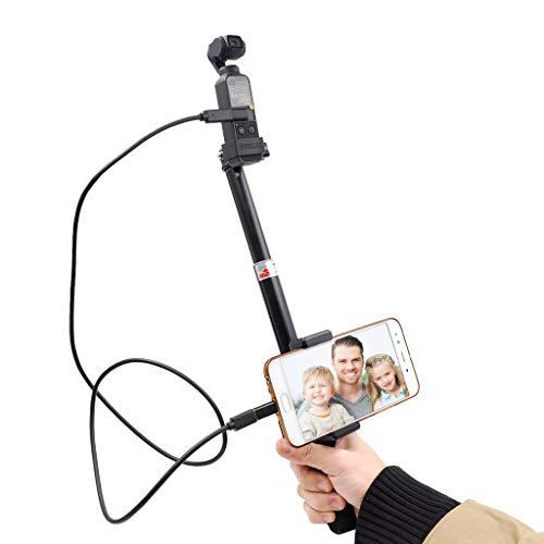 VICKY-HOHO Handheld-Gimbal-Stabilisator-Selfie-Stock-Berg-Handyhalter für DJI OSMO-Tasche (schwarz)