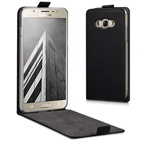 kwmobile Samsung Galaxy J5 (2016) DUOS Hülle - Handyhülle für Samsung Galaxy J5 (2016) DUOS - Schwarz - Handy Case Flip Schutzhülle