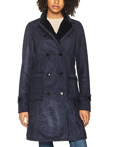 Armani Jeans Damen Mantel Coat Blau (Blue Notte 0581)