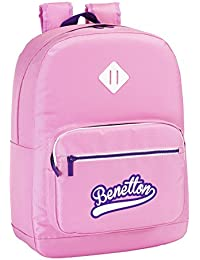 Benetton - Mochila adaptable, 32 x 43 cm, color rosa (Safta 611551754)