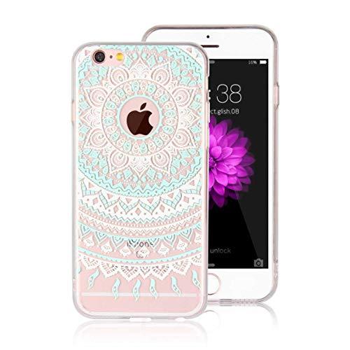 DENDICO Funda iPhone 6 Carcasa iPhone 6s Silicona Ultra Delgado de Estuche Funda Transparente Suave TPU para Apple iPhone 6 / 6s -Verde