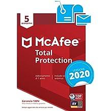 McAfee Total Protection 2020 | 5 Dispositivi | Abbonamento di 1 anno | PC/Mac/Smartphone/Tablet | Password manager incluso | Codice di attivazione via mail
