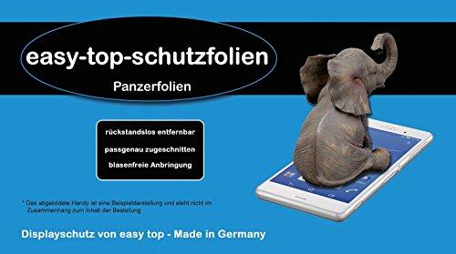 2x easy-top Premium Panzerfolie für Cubot X9 Anti-Shock Bildschirmschutzfolie Screen Protector Klar