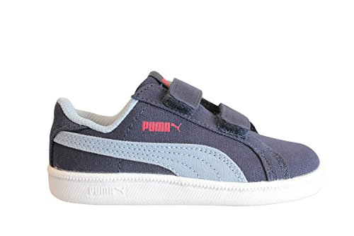 Puma Smash Fun Canvas bleu, baskets mode enfant