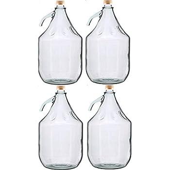 6 Stück 5 L Gärballon Weinballon Glasflasche Glasballon mit Schraubverschluß