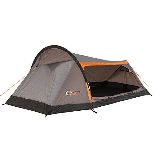 Portal Camping-Zelt Apus 2 Tunnelzelt mit Schlafkabine für 2 Person Outdoor Trekkingzelt mit großem seitlichen Eingang, wasserdicht mit 2000mm Wassersäule