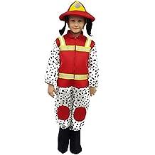 ropa nueva máscara de carnaval de Halloween carácter al bebé del bebé película de superhéroes pata de perro de dibujos animados héroe de patrulla abrigo de piel Marshall bombero Tutone juego cosplay del traje de raso y tela tg 5 6 años 80 cm de bloque de hombro