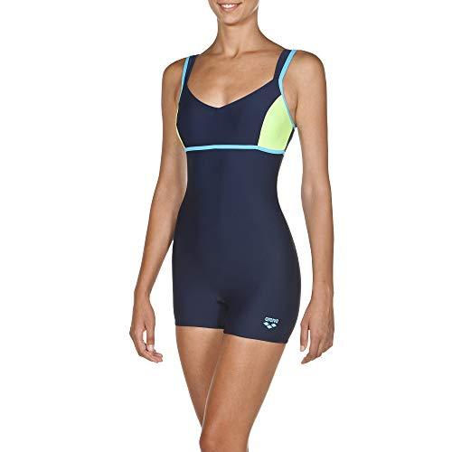 ARES5 Arena Damen Badeanzug Venus mit langem Bein Navy-Shiny Green-Sea Blue 42