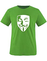 Anonymous Maske - Kinder T-Shirt Gr. 86 bis 164 Diverse Farben