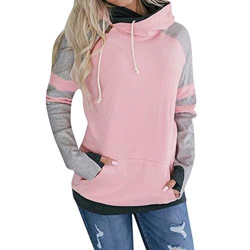 (TOPKEAL Hoodie Pullover Damen Herbst Winter Kapuzenpullover Geschmeidig Sweatshirt Winterpullover Jacke Lässig Mantel Mode Tops)