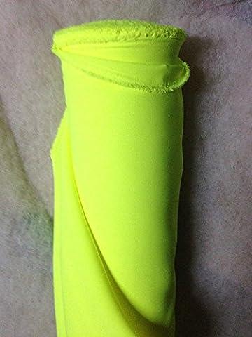 Tissus BURLINGTON infroissable JAUNE FLUO nappe habillement au 0.50 metre