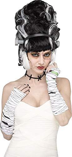 shoperama Kostüm Charakter Sets Damen schnelle Verkleidung mehrteilig, Variante:Monster - Frankenstein's Braut Kostüm