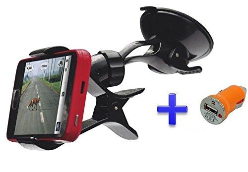 Soporte ventosa coche parabrisas para teléfono móvil smartphone Funker R452...