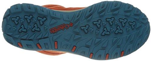 Columbia Fire Venture Mid, Chaussures Multisport Outdoor Femme Rouge (Bonfire/Oxide Blue 846)