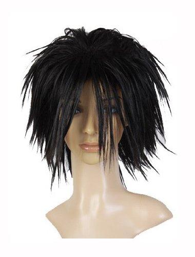 ath Note L Ryuuzaki schwarz Spiky Cosplay Perücke Wig ()