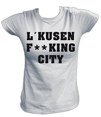 Artdiktat Damen T-Shirt - Leverkusen Fucking City Größe XXL, Grau