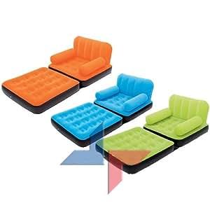 Couleur orange chauffeuse design lit d 39 appoint matelas pneumatique faut - Canape lit gonflable electrique ...