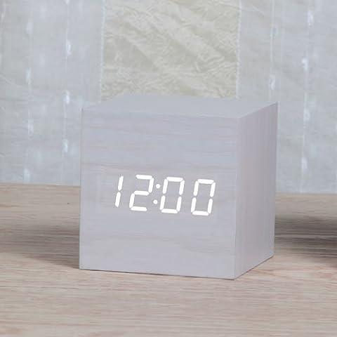 FQQRYY Elegante e innovativa allarme bella notte Mute Photonics Jong-con semplici e moderne gli studenti di clock la temperatura di 6*6*6CM,H