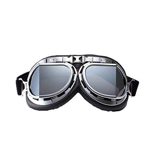 JohnJohnsen Outdoor-Motorrad-Sturzhelm-Schutzbrillen Frauen Männer Reiten Brille Motorrad-Winddichtes Brillen Sportbrillen (Tee)