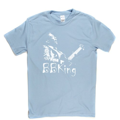 BB King Riley B. King American Blues Icon T-shirt Himmelblau