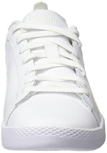 Puma Women Smash Wns V2 L Low-Top Sneakers  White  Puma White-Puma White 4   3 5 UK  36 5 EU
