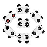 Juego de 7bonitas Panda Ojo Máscara Süße Gafas de dormir Dormir suave de ayudas Rest Eyepatch venda para los ojos Cartel Viaje Dormir Medio novedad Dormir para Sleepover Party