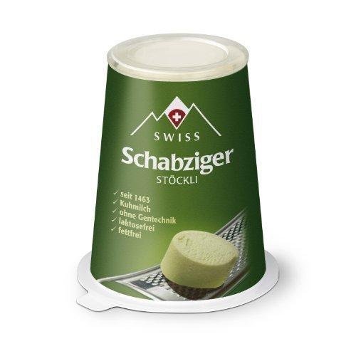 Ansicht vergrößern: Swiss Schabziger Stöckli fettarmer Käse Schweizer Reibekäse 100g KÜHLVERSAND