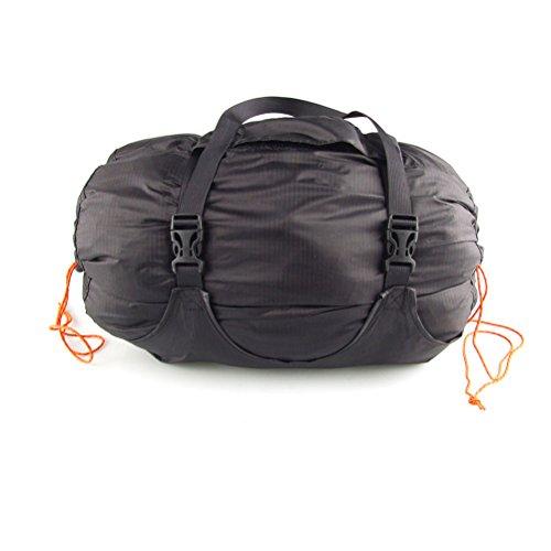WINOMO Nylon-Komprimierung Säcke Beutel Schlafsack Lagerung Kompression Bag Packsack (schwarz) - Kelty Gepäck