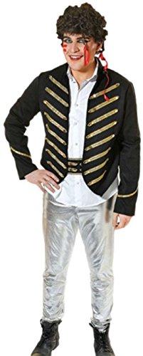 Ant Damen Adam Kostüm (erdbeerloft - Herren Karnevalskomplettkostüm Adam Ant , M,)