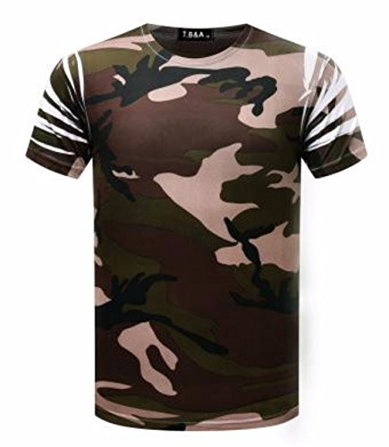 Men's 3D Printed O Neck Short Sleeve Tee Shirt chart color 10