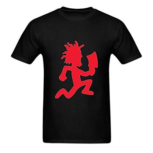 Mens Hatchetman ICP Logo O Neck T Shirt Short Sleeve Black