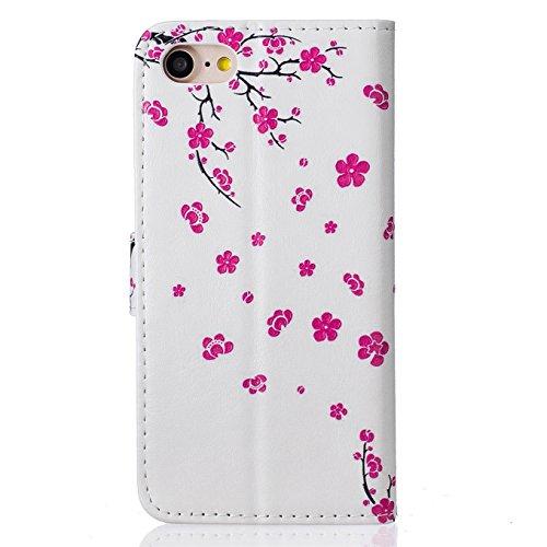 iPhone 7 hülle,AyiHuan Folio PU Leder Handyhülle Wallet Case Flip Cover mit Magnetverschluss, Kartenfach und Standfunktion Schutzhülle für Apple iPhone 7 4,7 Zoll,L3 L10