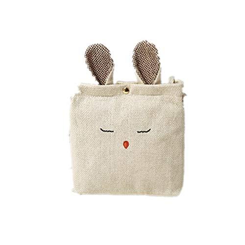 (Queta Häschentasche, niedliche Handtasche mit Hasenohren, Baumwolle beige beige)
