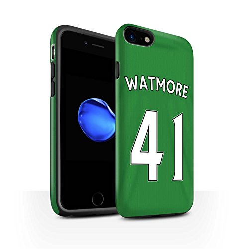 Offiziell Sunderland AFC Hülle / Matte Harten Stoßfest Case für Apple iPhone 7 / Jones Muster / SAFC Trikot Away 15/16 Kollektion Watmore