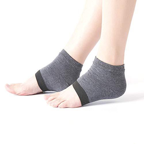 KEKEDA Feuchtigkeitsspendende Socken für rissige Fersen, feuchtigkeitsspendende Gel-Fersensocken Tagnachtzehe offene Füße