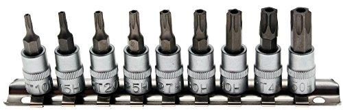 BGS Bit-Einsatz-Set, 6,3-1/4, T-Profil mit Bohrung, T10 - T50, 2165 (Profil-bit-set)