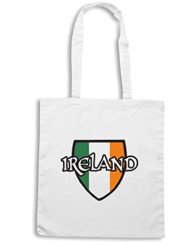 T-Shirtshock - Borsa Shopping TIR0251 Ireland Bianco