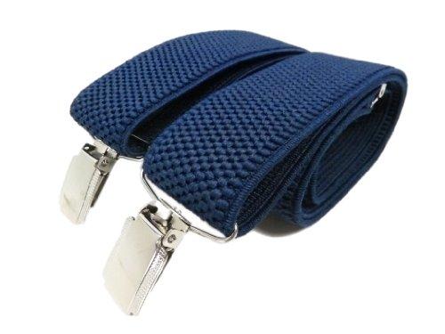 Olata Bretelles entièrement réglable pour Homme/Femme - 3.5cm. Bleu Marine